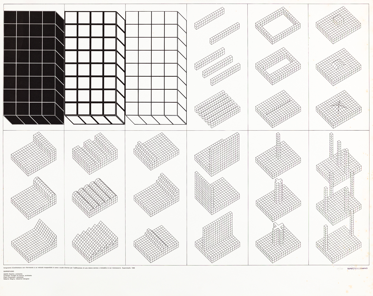 SUPERSTUDIO GROUP (1966-1986) - Istogrammi d'architettura, 1969