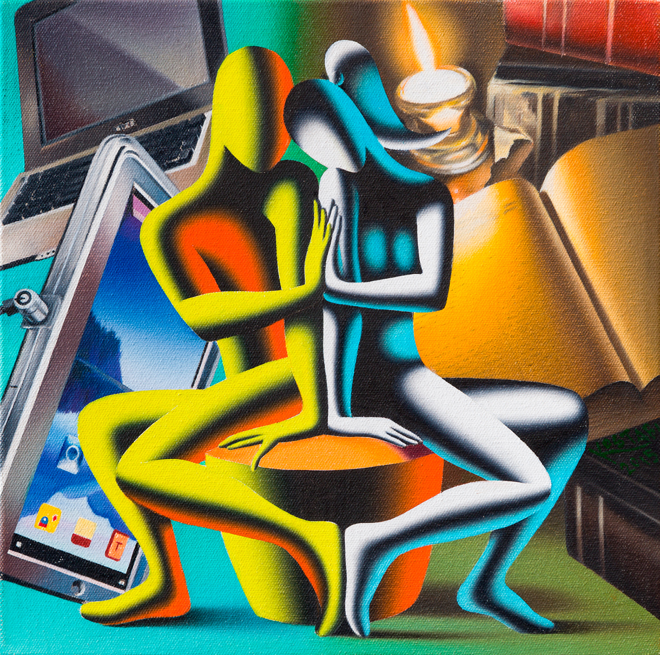 MARK KOSTABI (1960) - The end justifies the means, 2015