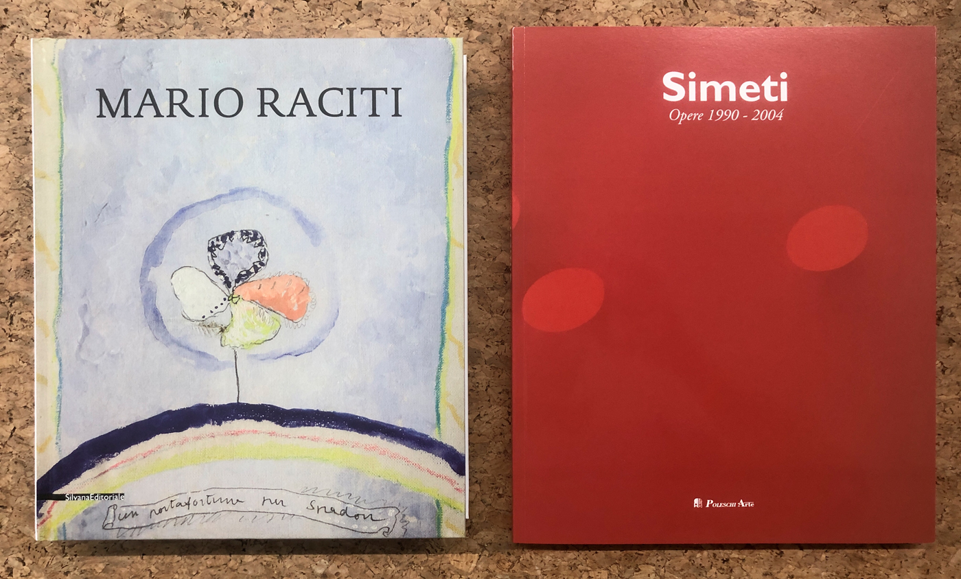 ARTE CONTEMPORANEA (RACITI, SIMETI) - Lotto unico di 2 cataloghi